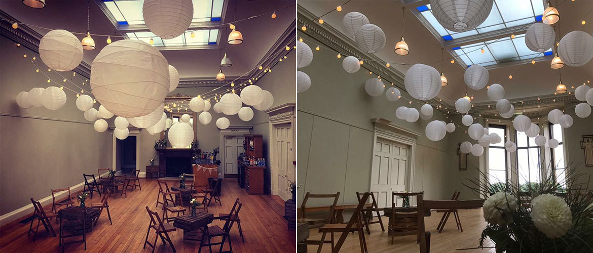 chinese lanterns hire for weddings in norfolk