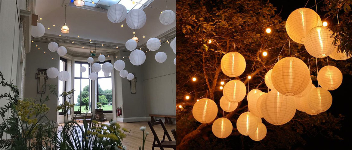 Chinese lanterns for wedding hire