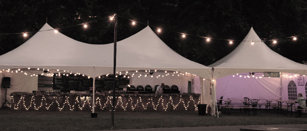 Festoon lighting wedding hire Norfolk