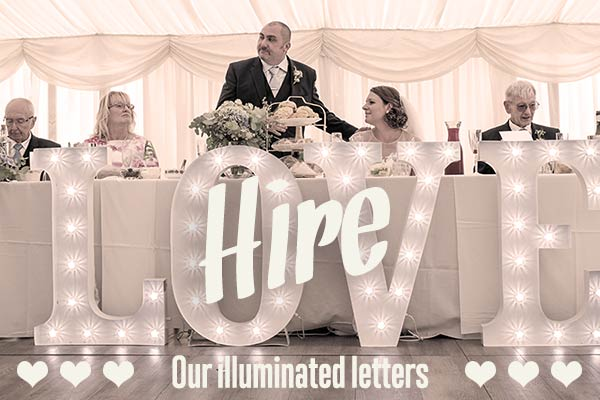 Illuminated Letters to hire Norfolk